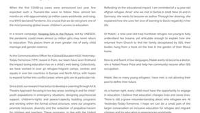 """""""Education in a Time of Coronavirus"""" for the Steve Sinnott Foundation"""