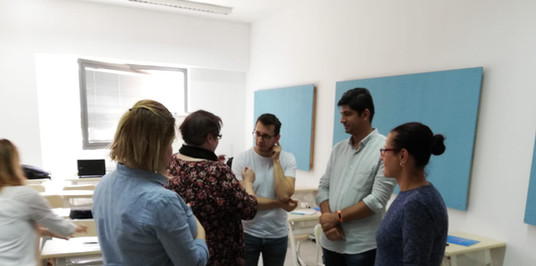 Students are taking part in activites that explore themes of identity building, anti-discrimination and pro-diversity practice at the International University of Sarajevo/Balkan Studies Center.