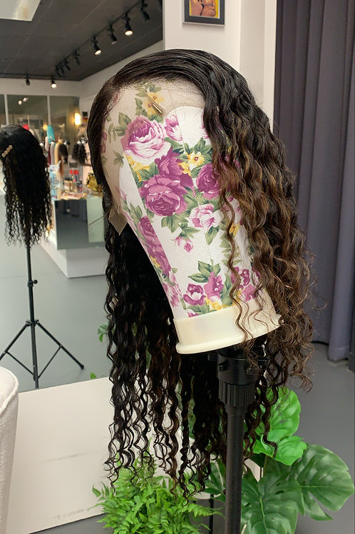 Brazilian Lace Front Wig: Natural Curly