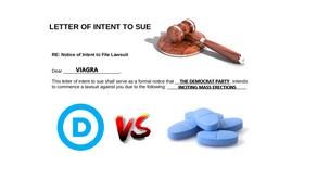 Democrats Sue Viagra For Inciting Erections