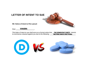 Democrats Sue Viagra For Inciting Erections