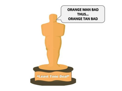 "To Protest ""Orange Man"", Hollywood Actors Vow Never to Tan Again"