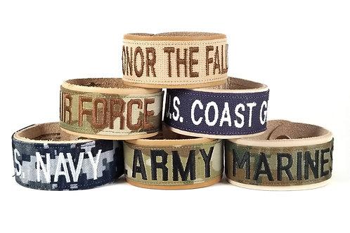 Name Tape ValorBAND - Leather - US Military