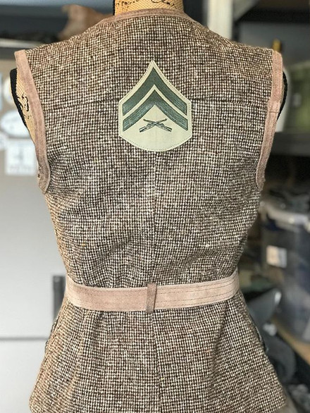 You can purchase this vintage British vest at @visit_cmafest booth 201  #marines #cmafest