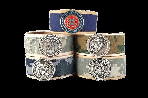 Branch Crest ValorBAND - Leather - US Military Combat Uniforms