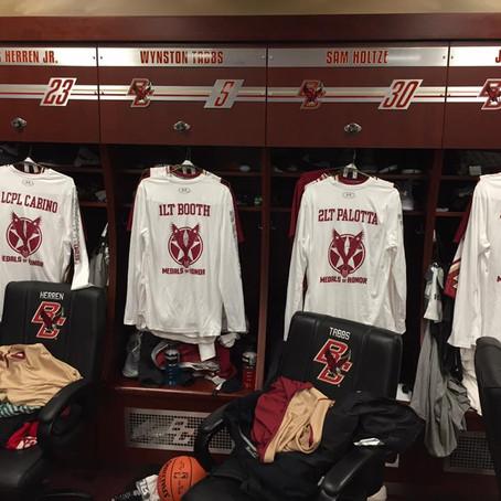 Boston College basketball team honors fallen military heroes