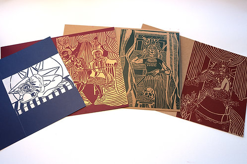 Circus greeting cards bundle II