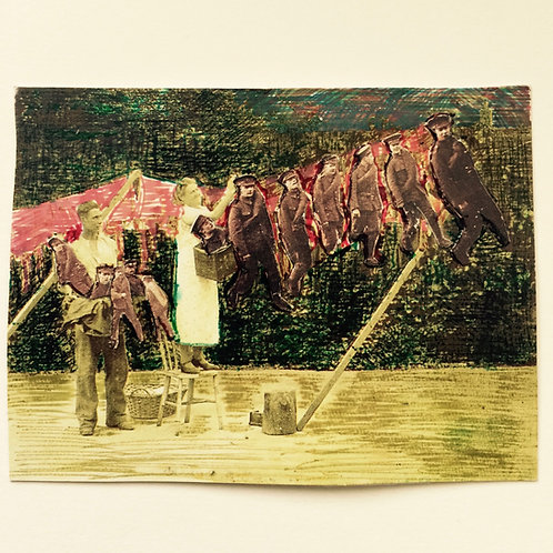 Woman Doing Chores Photograph print - signed