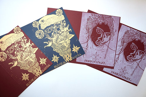 Christmas Cards Bundle II Red and Blue Pack