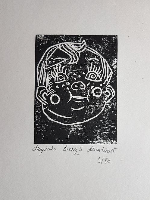 Baby II Original Linocut Print
