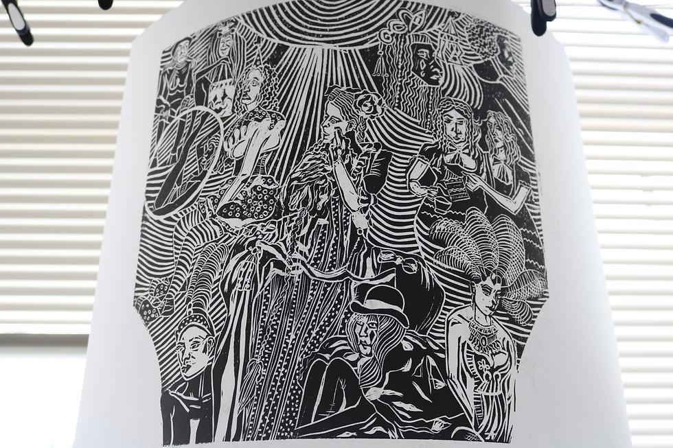Moatzart Original Linocut Print 5 copy.J