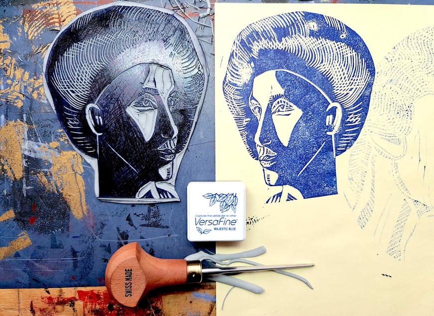 Moatzart Original Linocut Print 33 copy.