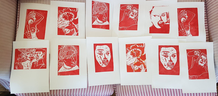 Moatzart Shop Original Linocut Prints Ar