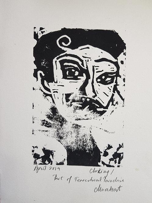 Choking Original Linocut Print from Participatory work