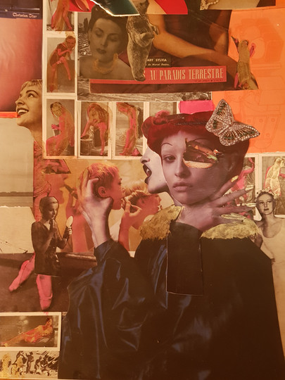 Moatzart Original Collage The Sylphides