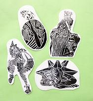 Moatzart original linocut prints origina