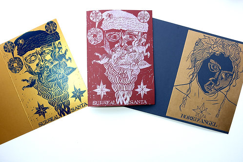 Christmas Cards Bundle III Red, Blue and Gold pack