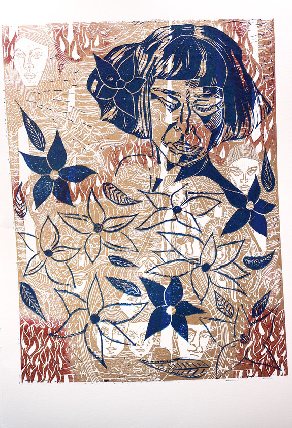Moatzart original linocut prints.JPG