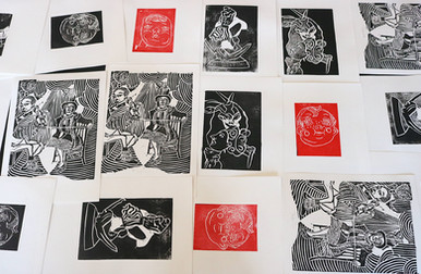 Moatzart Original Linocut Prints 10 copy