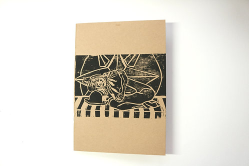 A5 Kraft Sketchbook Sad Circus Girl