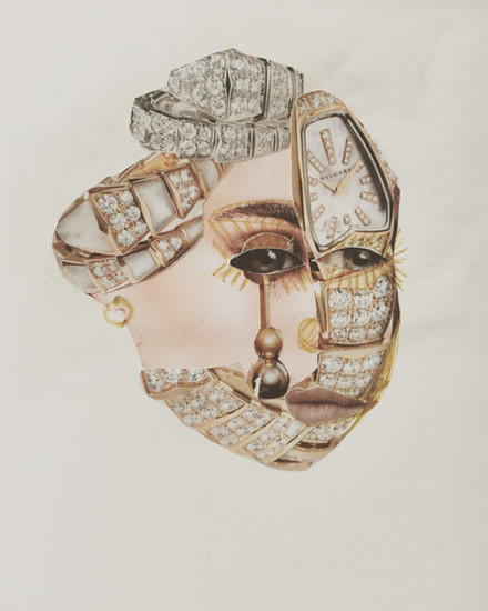 Moatzart Original Collage The Queen