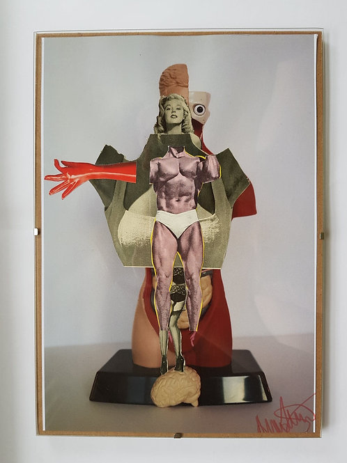 Lady Jesus Original Collage Framed