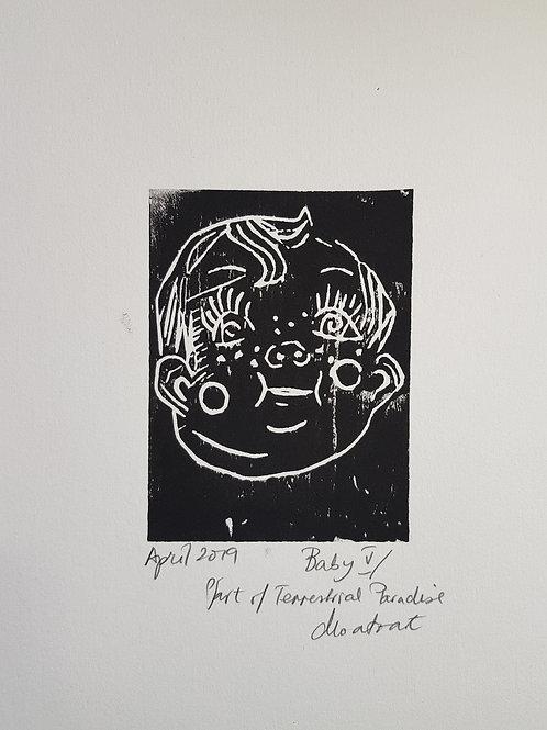 Baby V Original Linocut Print from Participatory work
