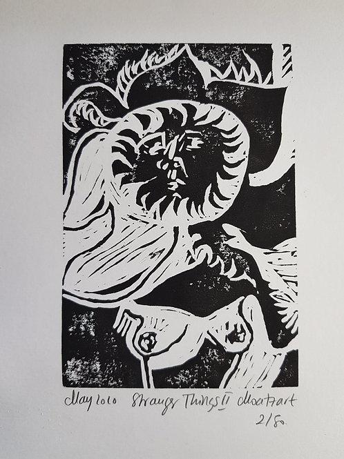 Stranger Things II Original Linocut Print