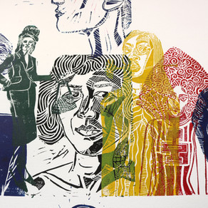 They Are Dreaming Collection - Moatzart limited edition linocut prints