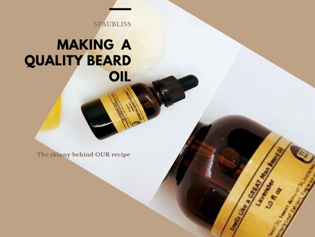 Making a quality beard oil