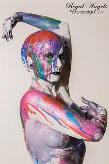VerenaKeppler Kreativ Fotoshooting Multicolor SFXMakeUpArtist KunstMakeUp Kunstshooting