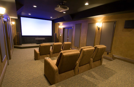Custom Home Theater with Trim