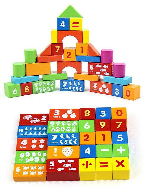 Bloques de construcción números 50 piezas