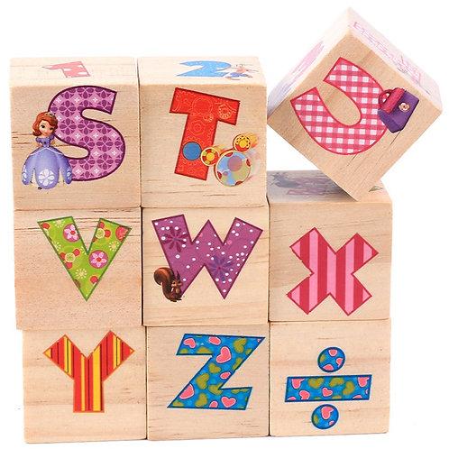 Cubos de letras y números