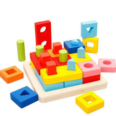 Bloques de madera puzzle