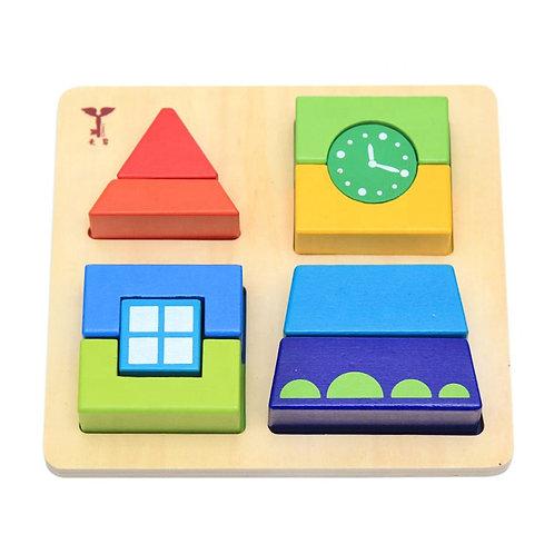 Clasificador de bloques Montessori