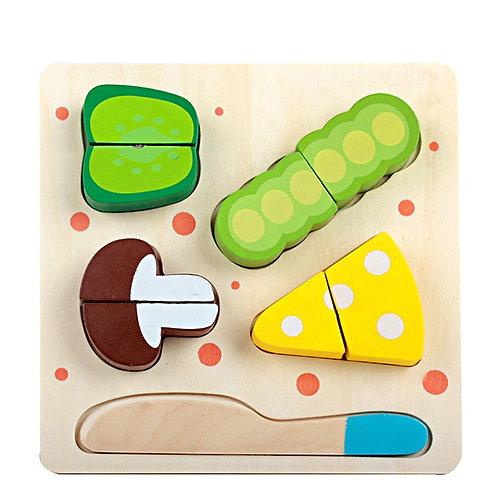 Mini rompecabezas de comida