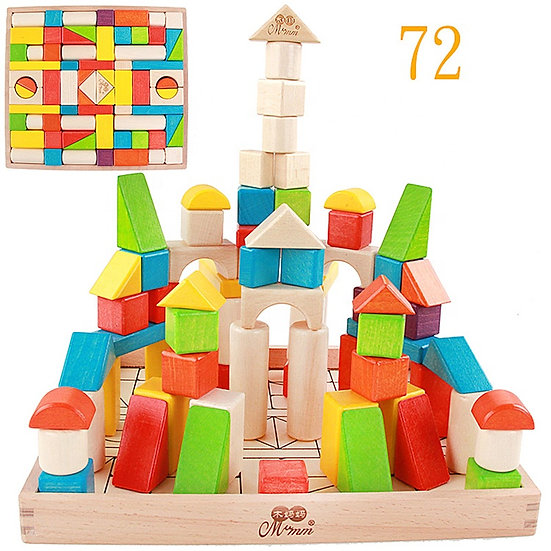 Bloques de construcción 72 piezas