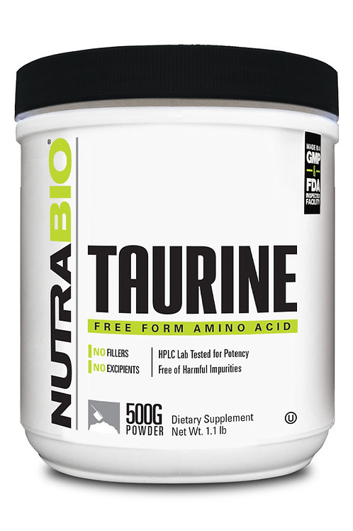Nutrabio Taurine Powder 500 Grams