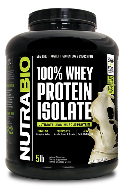 NutraBio 100% Protein Isolate 5 LBS