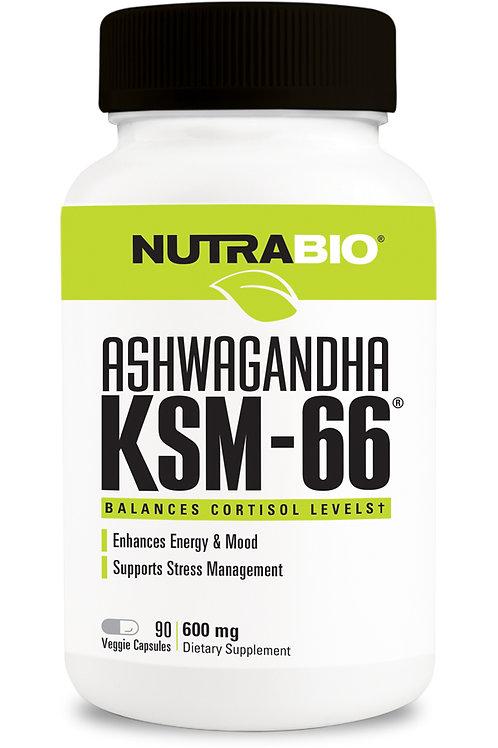 Nutrabio Ashwagandha KSM-66 90 Capsules