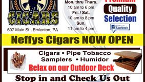 Now Open - Neffys Cigars - Main Street Emlenton