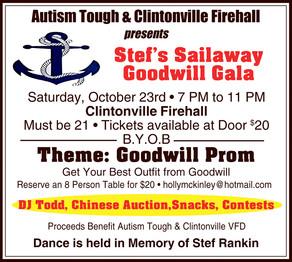 Stef's Sailaway Goodwill Gala - Oct. 23 - Clintonville Firehall
