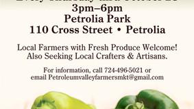 Petrolia Valley Farmer's Market - Every Thursday thru Oct. 28th