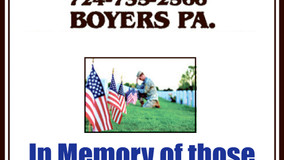 In Memory of Those Who Gave Their Lives Defending Our Freedom