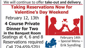 Allegheny Grille - Valentine Weekend Dinner Reservation - Sunday with Erik Sundling at the Piano