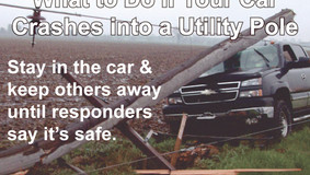 Central Electric - What to Do if Your Car Crashes Into a Utility Pole