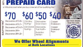 Seybert's Chicora - East Brady: Cooper Tire Fall Sale