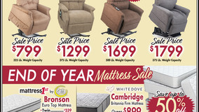 Bear's Mattress 1st - Cranberry, PA - Power Recliner Sale & End of Year Mattress Sale