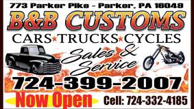 B & B Customs - Cars • Trucks • Cycles - Sales & Service